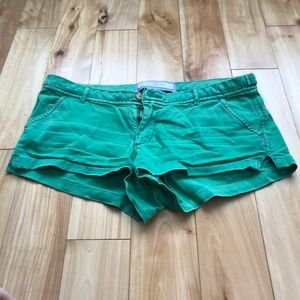 Green Abercombie & Fitch Shorts Size 8